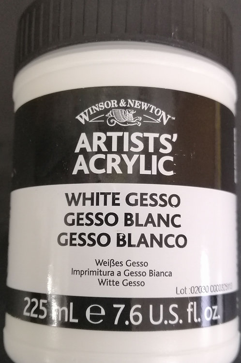 Winsor and Newton artists acrylic white gesso 225ml