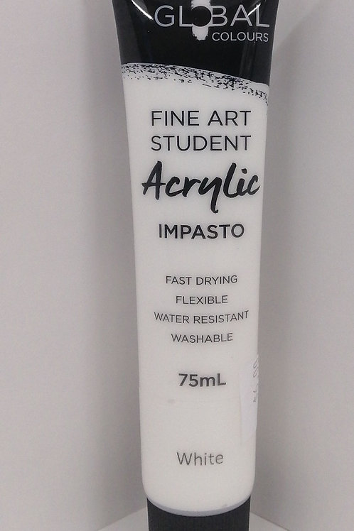 Global fine art student acrylic impasto white 75ml