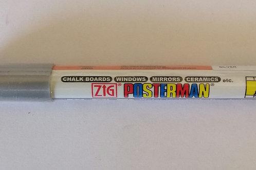 Zig Posterman silver 1mm