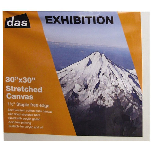 "Das Exhibition 30"" x 30"" stretched canvas"