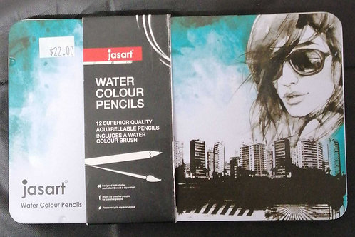 Jasart watercolour pencils 12pc