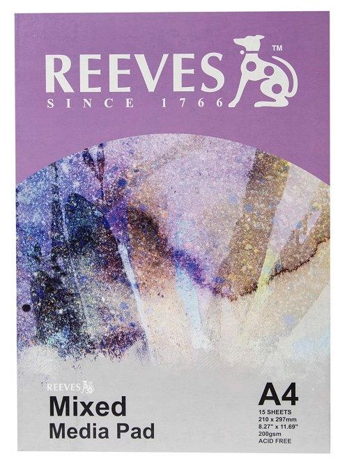 Reeves Mixed Media Pad A4 200gsm 15 sheets