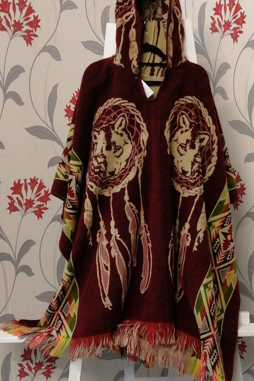 Poncho reversible one size