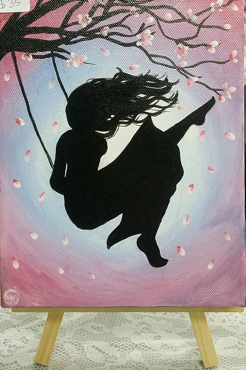 Girl on a swing (canvas)