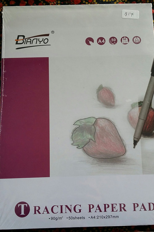 A4 tracing paper book 50 sheets  90gsm