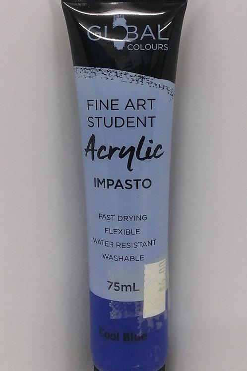 Global Fine Art student acrylic impasto cool blue 75ml