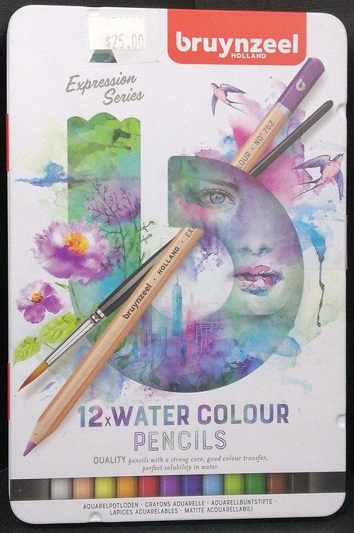 Bruynzeel watercolour pencils expression series 12 piece