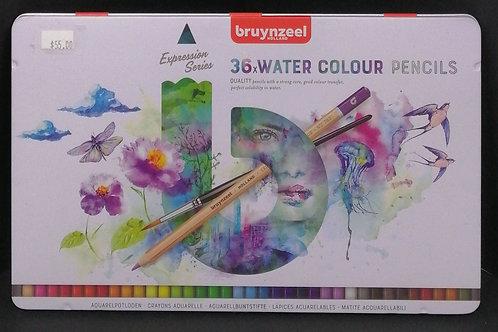 Bruynzeel watercolour pencils expression series 36 piece
