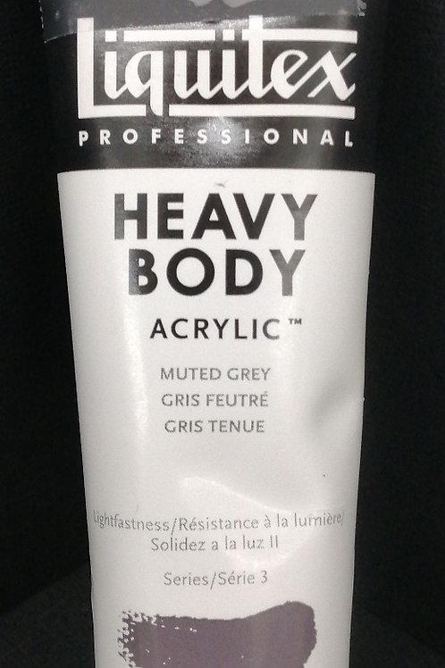 Liquitex professional heavy body acrylic muted grey 59 mil