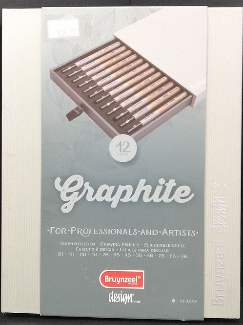 Bruynzeel graphite for professionals and artists, 12 pencils