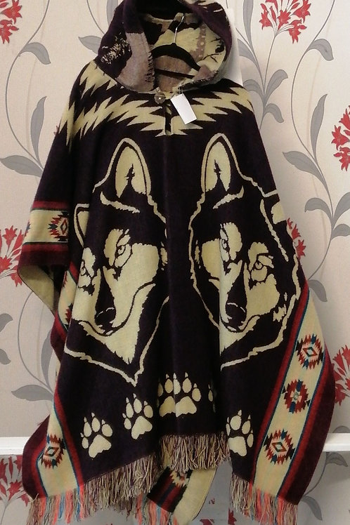 Poncho one size reversible