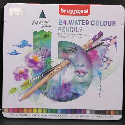 Bruynzeel watercolour pencils expression series 24 piece