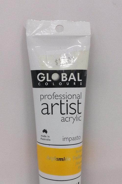 Global professional artist acrylic impasto series 1 Arylamide Yellow 75ml