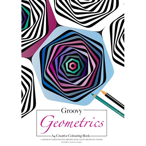 groovy geometrics colouring book