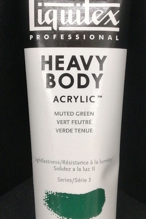 Liquitex professional heavy body acrylic muted green 59 mil