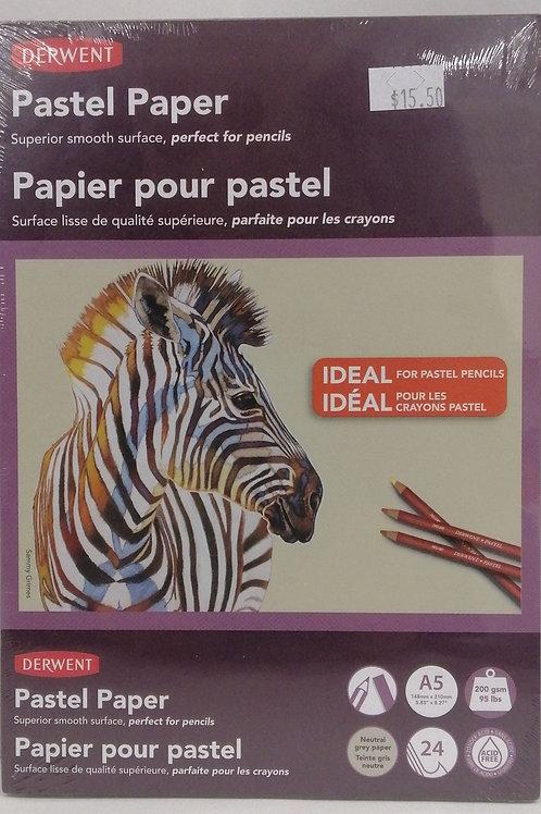 Derwent pastel paper pad A5 24 sheets acid free 200gsm