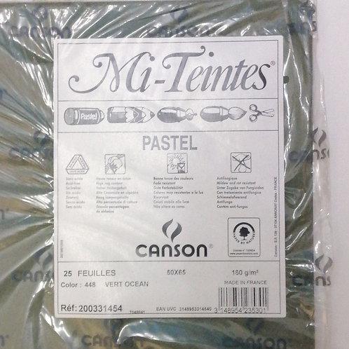 Mi-Teintes canson pastel paper, colour 448 Vert ocean (price is per sheet)