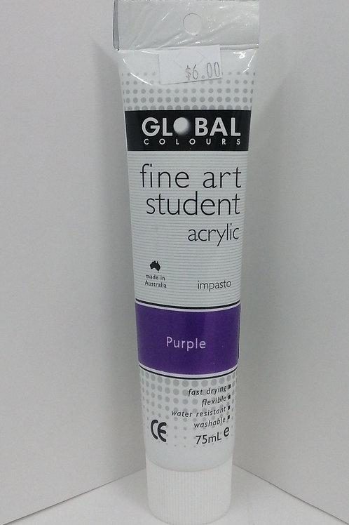 Global fine art student acrylic impasto purple 75ml