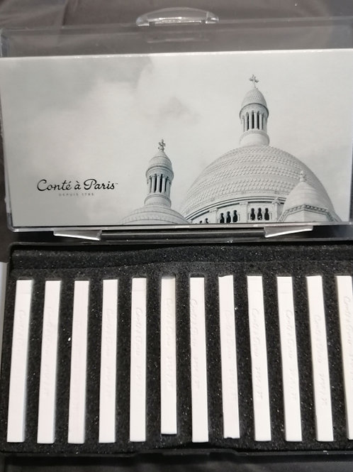 Conte a Paris professional sketching crayons, White (price is per crayon)
