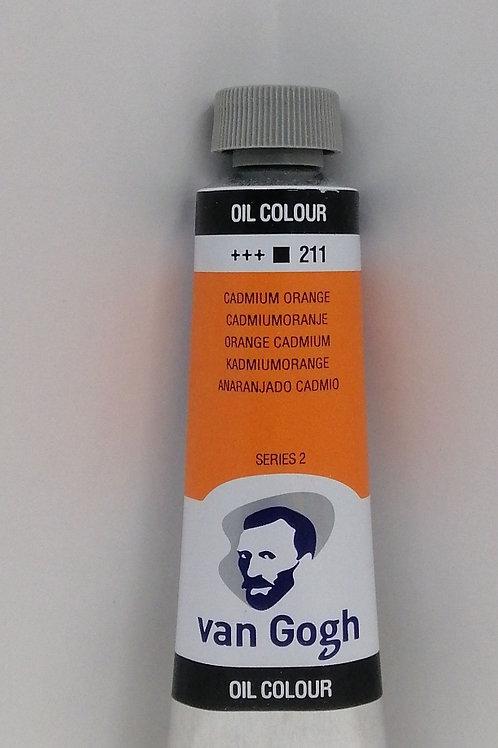 Royal talens van Gogh oil colour cadmium orange 40 mil