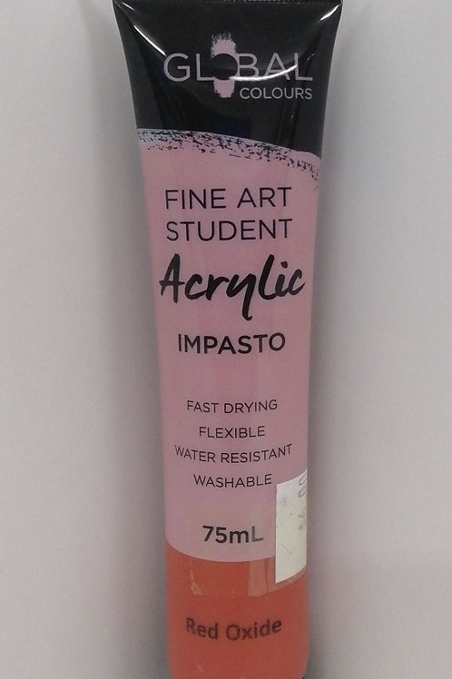 Global Fine Art student acrylic impasto red oxide 75ml