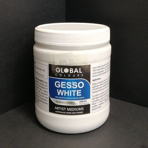 Global gesso white, 500ml