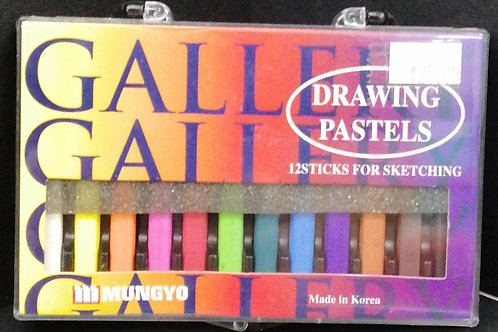 Mungyo gallery pastel, 12 sticks for sketching