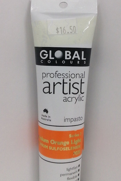 Global professional artist acrylic impasto series 3 cadmium orange light 75ml