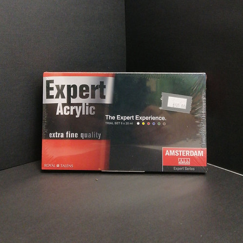 Royal talens expert acrylic, trial set 6 x 20 ml extra fine quality