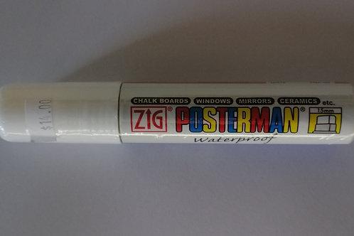 Zig Posterman white 15mm