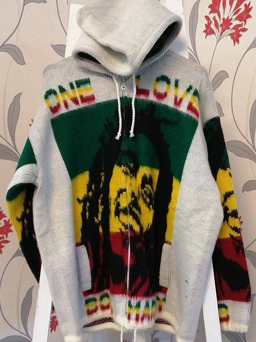 One Love Bob Marley hoodie, Alpaca
