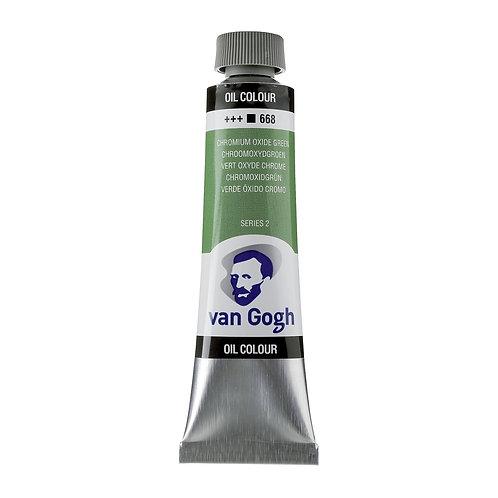 Royal talens van Gogh oil colour series 2 Chromium Oxide Green 40 mils