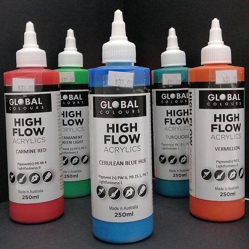 Global high flow acrylics 250ml