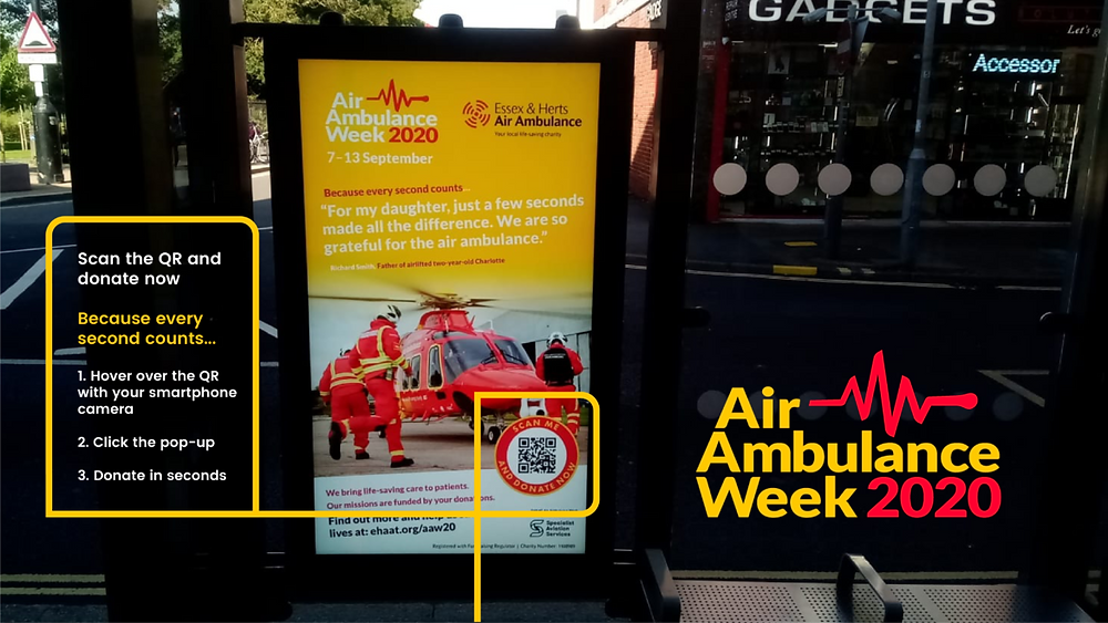 Advertising boards for Air Ambulance Week 2020.