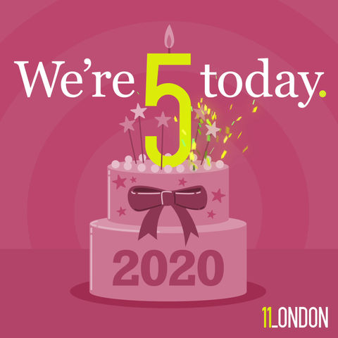 We're five today!