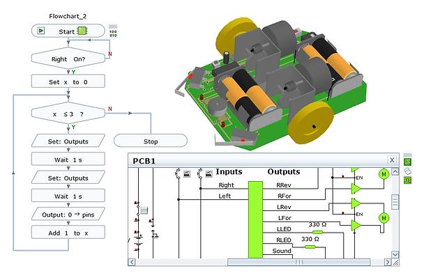 yenka technology microcontroller program