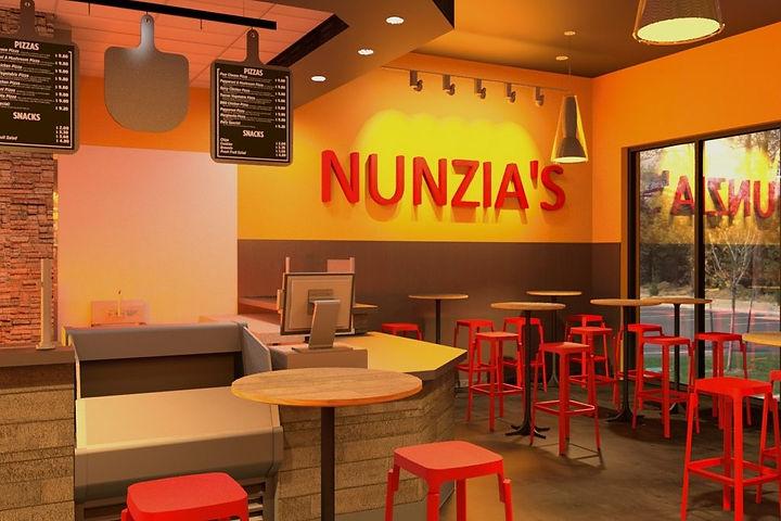 Nunzia's pizza restaurant dining room