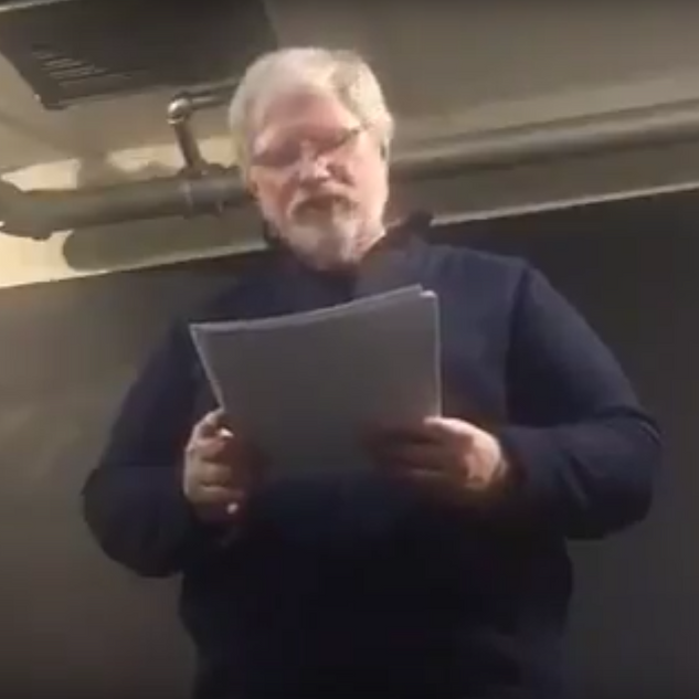 Death of a Nation Show: Work Video of Richard performing in his Improvisational Reading Format