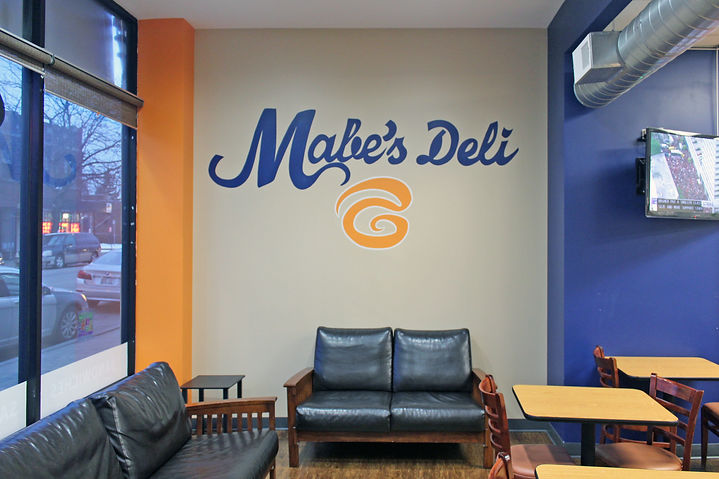 Mabe's Deli dining room in Chicago's Grand Crossing neighborhood
