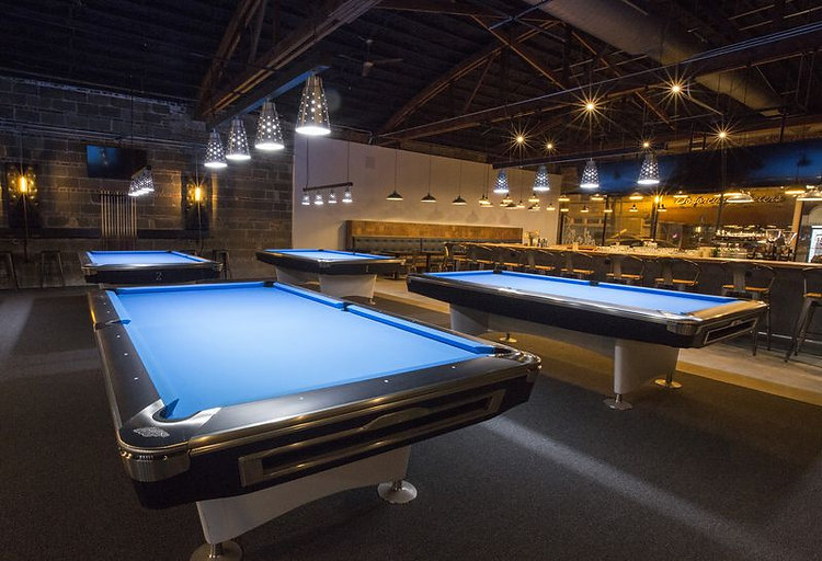 Surge Billiards pool hall located in Chicago's Irving Park neighborhood