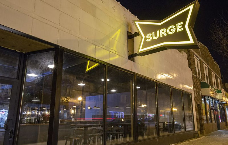 Surge Billiards street view located in Chicago's Irving Park neighborhood