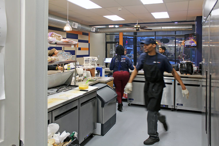 Mabe's Deli kitchen in Chicago's Grand Crossing neighborhood