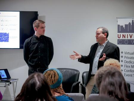 Berman Design Gives Branding Presentation at University CoWork in Chicago's Woodlawn Neighborhood