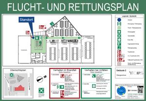Abbildung Flucht- und Rettungsplan nach DIN 23601