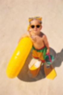Boy set to swim