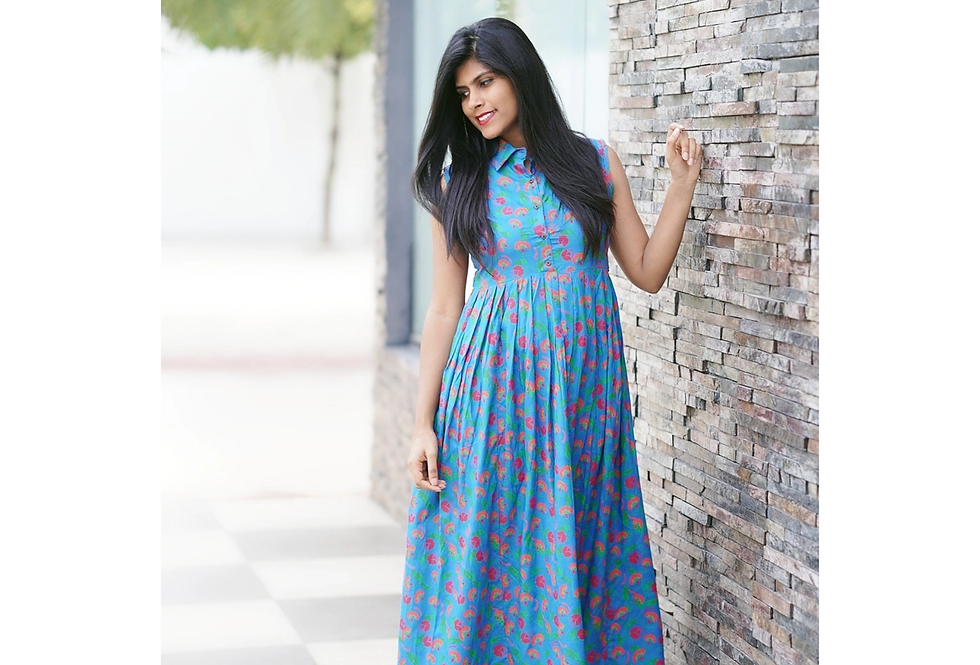 All about flowers kurti