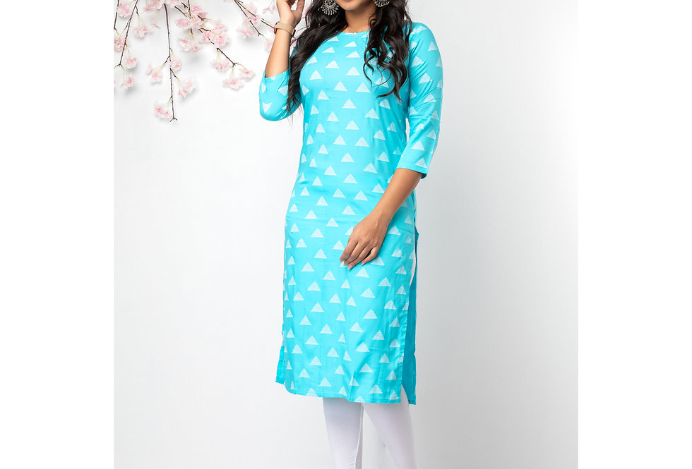Lines and triangles kurti