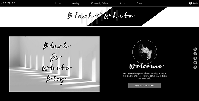 Black & White Contrast Blog Template