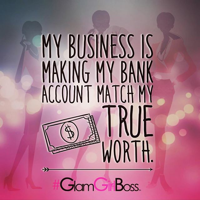 Bank account matches your worth.