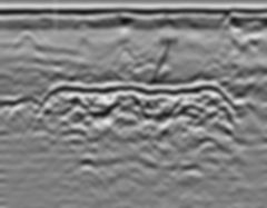 GPR profile along an UST